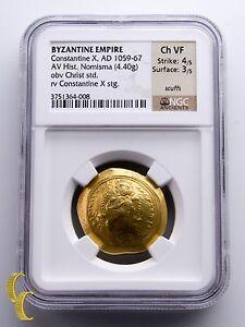Byzantinische Münzen Münzen Mittelalter Byzantinisch Reich 1059-67 Gold Histamenon Nomisma Constantine X Graded Von Ngc