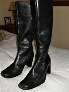 Next Black Leather Boots size 7/41   eBay