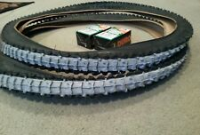 TWO 2 BICYCLE TIRES WITH 2 INNER TUBES DURO 26x2.10 BLUEWALL M.B