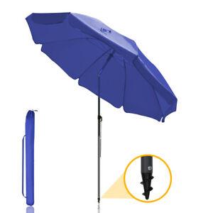 Sonnenschirm Strandschirm Balkonschirm UV 50+ Rund Ø ca.180cm mit Tragetasche