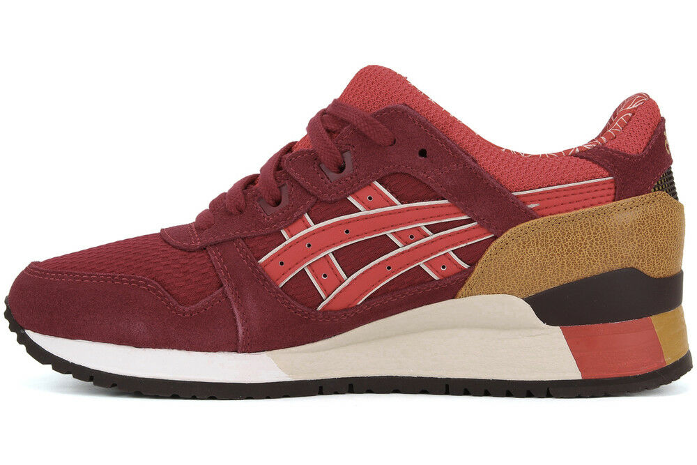 Asics Men's GEL-LYTE III Shoes NEW AUTHENTIC Burgundy/Fiery Red HN514-2523