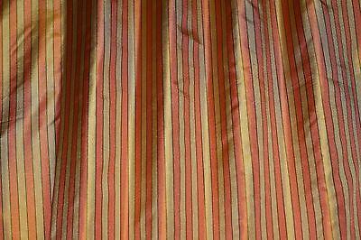 "By Yard 54/"" W JD-515A Mauve//Gold Square Jacquard on Tafetta 100/% Silk Fabric"