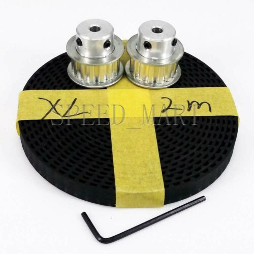 2pcs XL XL15T Timing Pulley 15 Teeth 8mm Bore for Stepper Motor /& 2m XL037 Belt