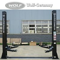 2 Säulen Hebebühne 4000Kg KFZ PKW Werkstatt Bühne Top Angebot Wolf-Germany..-