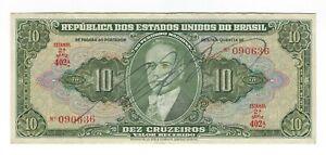 10-Cruzeiros-Bresil-1950-c075-p-143-Brazil-billet
