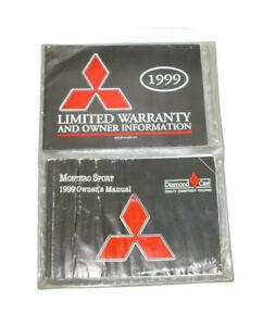 1999-Mitsubishi-Montero-Factory-Original-Owners-Manual-Portfolio-7