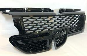 Rejilla-Frontal-Negro-Brillante-amp-respiraderos-laterales-de-malla-negra-Range-Rover-Sport-2005-9