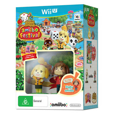Animal Crossing Amiibo Festival Bundle Nintendo Wii U WiiU Game NEW