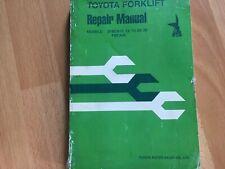 Toyota Forklift Repair Manual Models 2fbca10 13 15 20 25 30 Oem