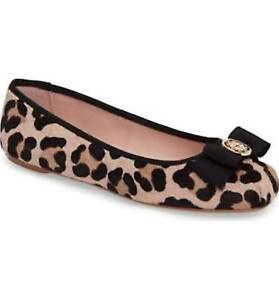 5c0ff2b02d9 KATE SPADE Flats Leopard Fontana Too Calf Hair Bow Ballet Shoes Size ...