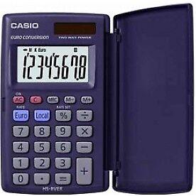 Casio HS8VER Pocket Calculator 8 Digit Display - Sheffield, United Kingdom - Casio HS8VER Pocket Calculator 8 Digit Display - Sheffield, United Kingdom
