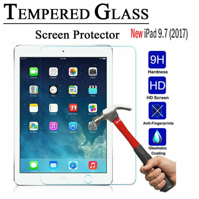 Tempered Glass LCD Screen Protector For NEW Apple iPad 5th Generation 9.7 (2017)