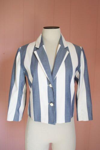 Nwt Jacket Kitsune A5702 4 Maison 38 535 Stripe 3 Sleeve 6 Cotton For Jcrew PqdgEwdO