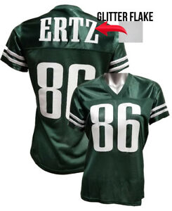 pretty nice e86eb 0efdb Details about Custom Womens Blinged Football GREEN/White Jersey,Zach  Ertz,Eagles