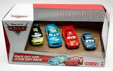 RACE DAY FAN gift  4 pack Marty Trunk Fresh Spare O Mint Disney Pixar Cars 2 NEW