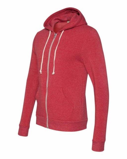 ZIP SLIM FIT MEN/'S TWO COLOR XS-3XL ECO-FLEECE TRI-BLEND HOODIE MID-WEIGHT