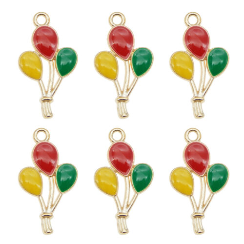 20pcs Enamel Plated Multi-Colors Air Balloon Pendant Charms DIY Findings Crafts