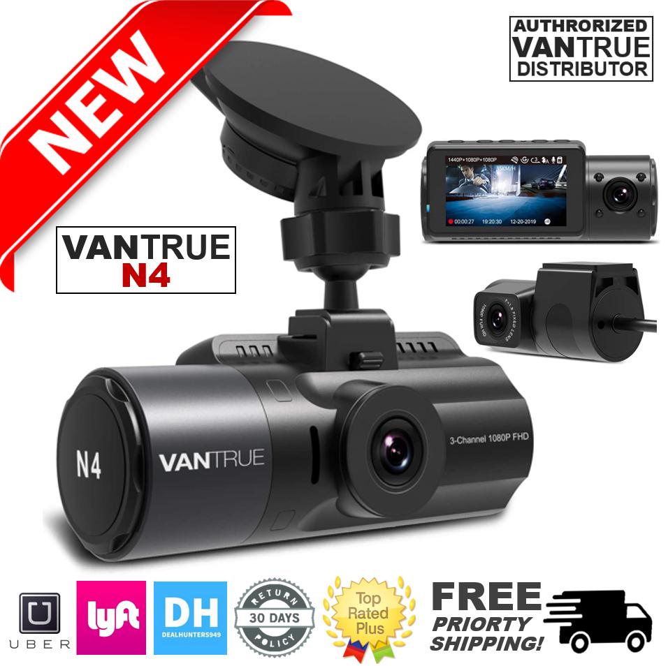 Vantrue N4 Dash Cam 3 Channel 1440P Front, 1080P Inside & Rear Dash Cam 1080p 1440p cam channel dash Featured inside rear vantrue