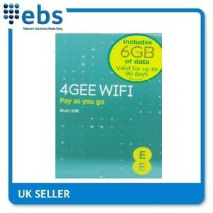 EE PAYG 4G Data Sim Preloaded With 6GB Data  5025744418619