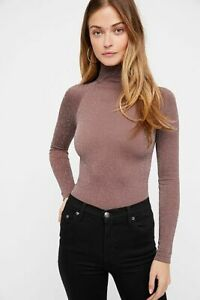 New-Free-People-Intimate-Seamless-Turtleneck-Bodysuit-Long-Sleeve-Top-Xs-L-48