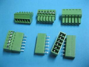 NOUVEAU 8 Broches//Way Pitch 3.81 mm Vis Bornier Connecteur vert Pluggable type