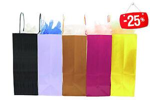 25 Sacchetti Buste Negozio Shoppers Carta Sealing 36x41cm Soffietto 12cm Bronzo