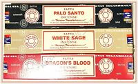 Lot Of 3 Box Original Satya Palo Santo, Dragon, White Sage Incense Stick 45gr