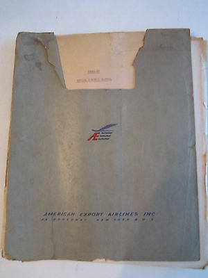 1945 AMERICAN AIRLINES CRUISE CONTROL MANUAL (C5AE-DC) THICK FOLDER - BB-3A