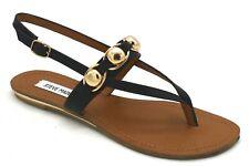 46468cfcfd9 Steve Madden Women's Agathist Gladiator Sandal Black Leather 10 M US ...