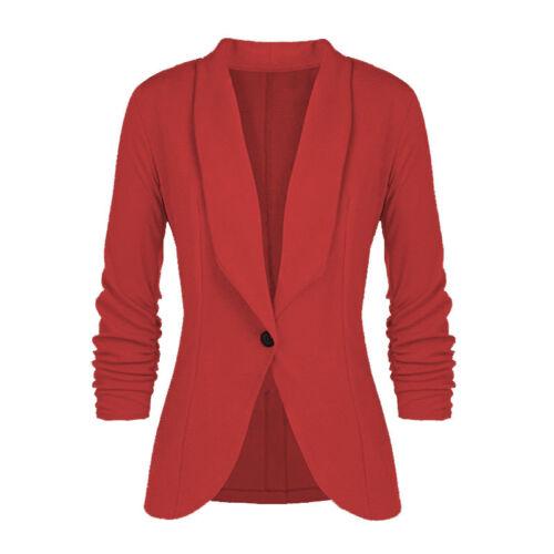 Women/'s One Button Slim Fit Casual Business Blazer Suit Jacket Coat Lady Outwear
