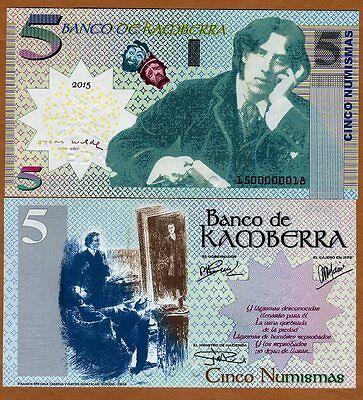 2014 Kamberra 5 Numismas UNC /> Oscar Wilde /> Upgraded