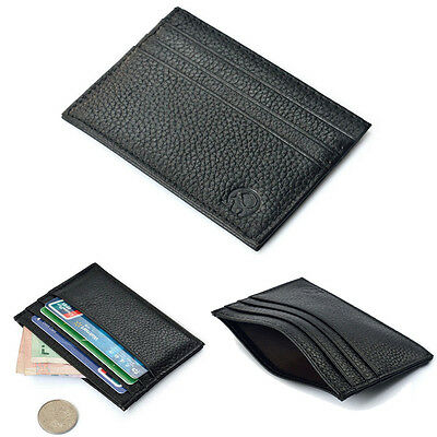 New Soft Leather Credit Card Holder Business ID Slim Case Pouch Wallet Purse