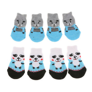 8x-Small-Dog-Cat-Socks-Pet-Clothes-Anti-Skid-Winter-Apparel-Boots-Shoes-S