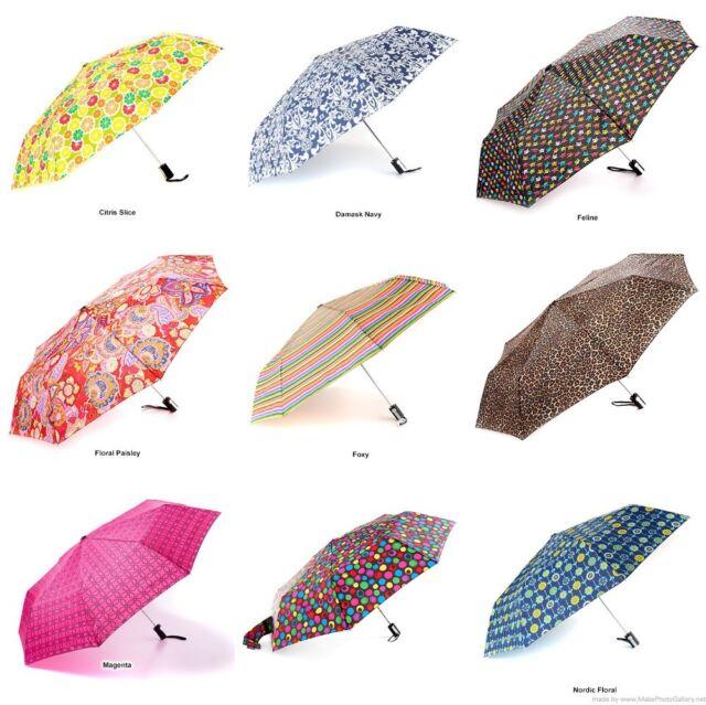 """Totes Auto Open and Close 44/"""" Arc Umbrella Multi-Color Floral"""