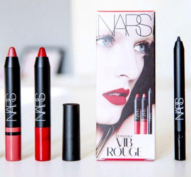 Sephora VIB Rouge 2015 Birthday Gift NARS 3pc Sample Set Lipsticks Liner