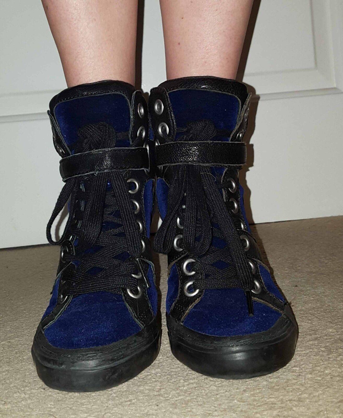 ASH NAVY VELVET Schuhe SIZE UK4 EU37
