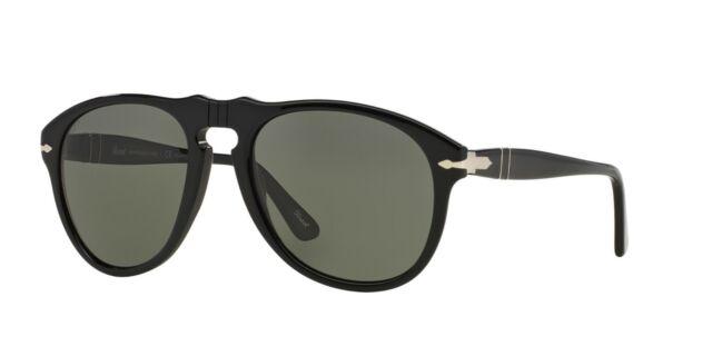b6ae208a32f94 Persol 649 Aviator Sunglasses 95 58 Black   Green Polarized Po0649 54 Mm