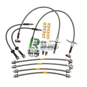 LAND ROVER DISCOVERY 3 & 4 STAINLESS STEEL BRAIDED BRAKE HOSE KIT (2004-2016)
