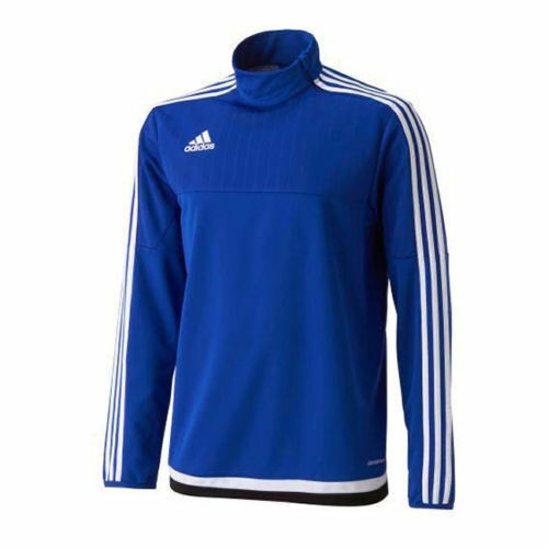 c2883ac39 adidas Football Men Soccer Tiro 15 Polyester Training Top Blue White M |  eBay