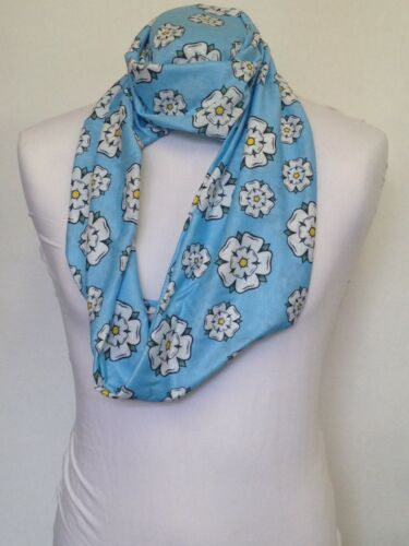 Infinity Scarf Jersey Or Chiffon Yorkshire Rose Design Fashion Loop Scarves