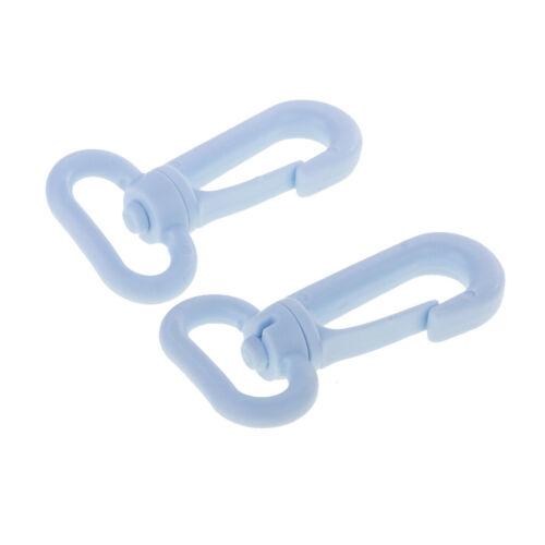 10pcs Plastic Swivel Snap Hooks for Weave Paracord Lanyard Buckles Webbing 20mm