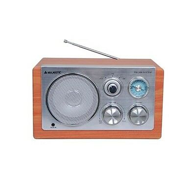 RADIO VINTAGE AM/FM CON INGRESSO AUX COLOR LEGNO MAJESTIC WR-168N AX