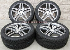 "22"" Mercedes Benz GL63 Style Wheels Tires Rims Gunmetal GL350 GL450 GL550 GL63"