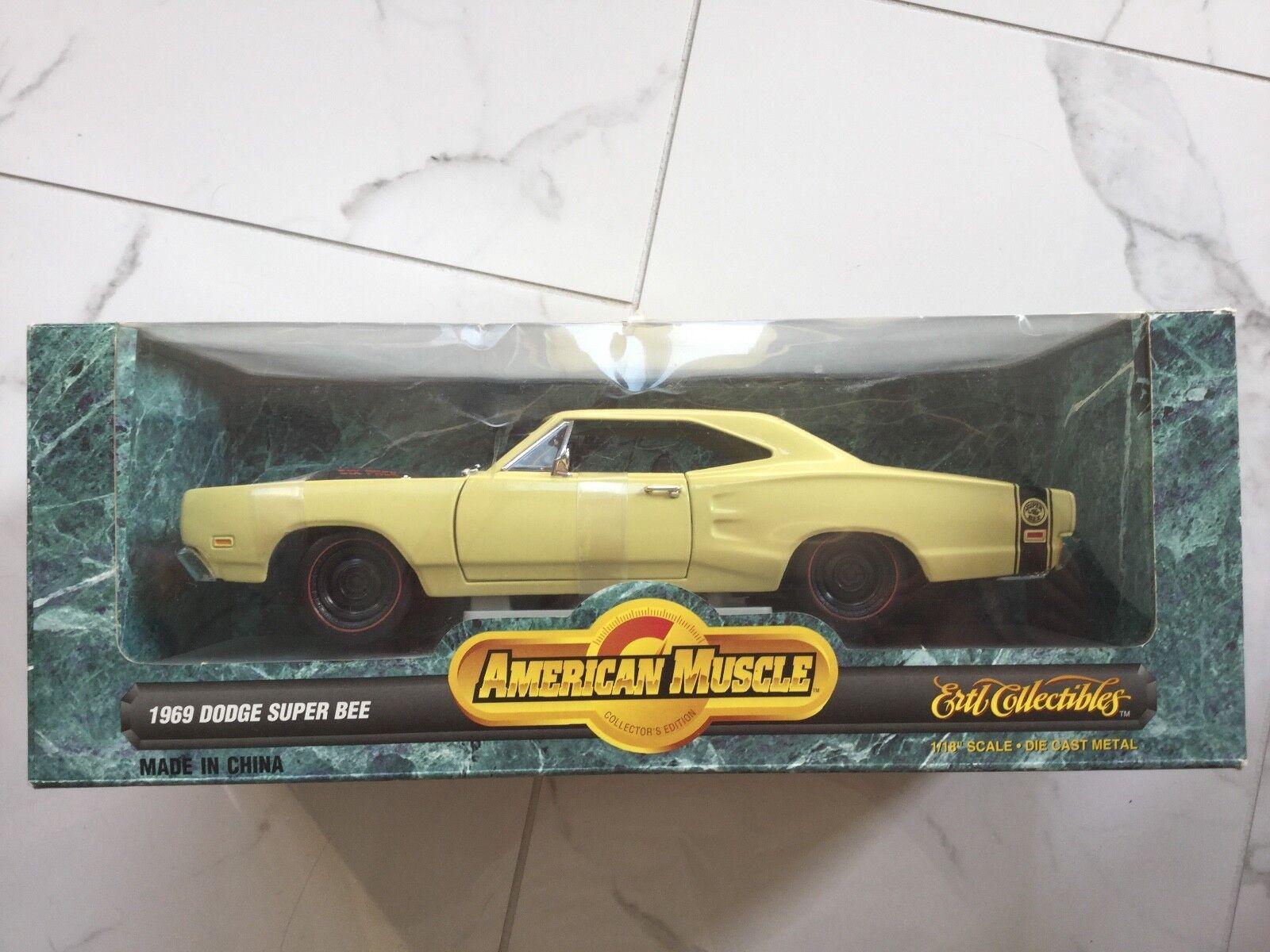 Ertl 1 18 American Muscle 1969 Amarillo Dodge súper Bee Artículo Nº 7270 F S