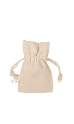 100 Natural Cotton Drawstring 3 x 4 Pouches Draw String Jewelry Gift Bags Pouch