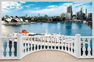Huge-3D-Balcony-Sydney-Cruise-Liner-Wall-Stickers-Mural-Art-Decal-148