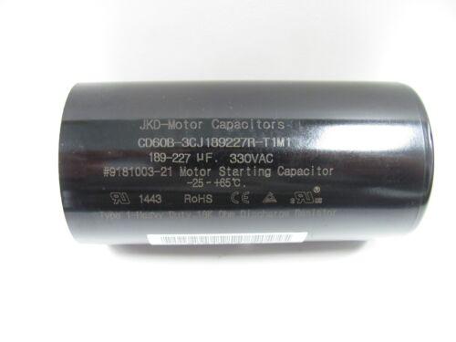 189-227 uF MFD Motor Start Capacitor 330 VAC with Resistor CD60B-3CJ189227R-T1M2