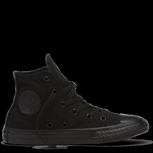 163b0f36674c Pre School Size Converse Chuck Taylor All Star SP High Triple Black Casual  3S121