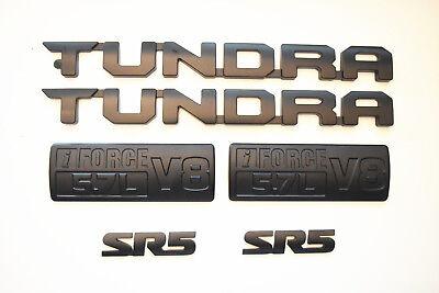 FOR 2000-2019 Toyota Tundra Matte Black Out Emblem Badges tailgate 3 Piece Kit