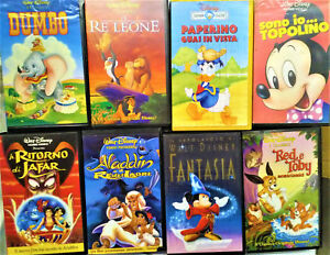 Walt disney lotto videocassette originali usate cartoni animati